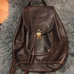 Patricia Nash brown leather backpack